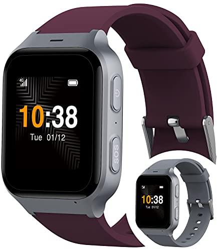 TCL Safety Watch MT43AX Sicherheitsuhr mit Sturzerkennung für Senioren plus 100€ Amazon Gutschein I Telefonuhr mit Notruf-Knopf & GPS-Ortung für ein sicheres Gefühl I per App mit der Familie verbunden