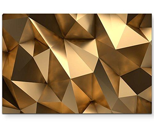 Paul Sinus Art Leinwandbilder | Bilder Leinwand 120x80cm 3D Goldener Hintergrund