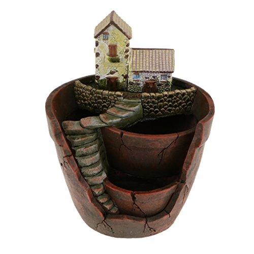 【ノーブランド 品】樹脂 スカイ ガーデン サボテン 多肉植物 花壇 ポット ボックス 庭 プランター