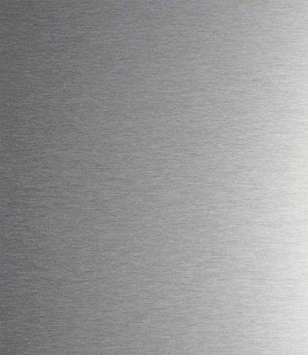 PLAKINOX - CREDENCE EN INOX - Adhésive, 90 x 75 cm INOX BROSSE Magnetique - 1 mm