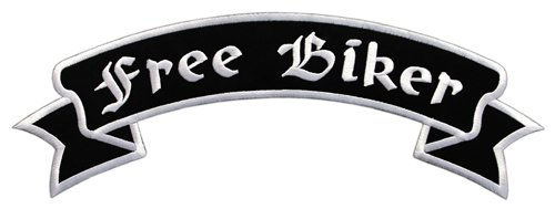 Free Biker Backpatch Rückenaufnäher XXL ca. 33,5 x 11,5 cm