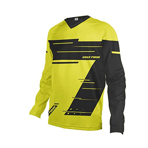 Uglyfrog Designs Erwachsener Motocross Jersey Cross Offroad Enduro Downhill Shirt Atmungsaktiv Lange Ärmel Rundhalsausschnitt or V-Ausschnitt