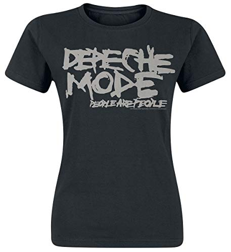 Depeche Mode People Are People Frauen T-Shirt schwarz L 100% Baumwolle Band-Merch, Bands