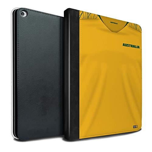 Tablet Hülle kompatibel mit Apple iPad Pro 12.9 2017/2nd Gen Weltmeisterschaft 2018 Fußball Trikot Australien/Australier Flip PU Leder Case Cover