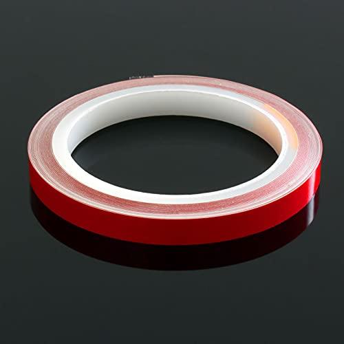 DonDo 3M 610C Reflektierendes Klebeband Reflexfolie Konturmarkierung Rot 10mm x 10m
