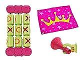 WISORIA GmbH Spielturm Zubehör-Set Prinzessin in pink mit Fahne Megaphone OXO-Spielset