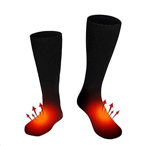 HONGSHAN Calcetines térmicos Calentadores eléctricos calientes para pies Botas de pesca de hielo Sox Hunting Calcetines de calefacción eléctrica de 3 V, aislamiento térmico de doble capa