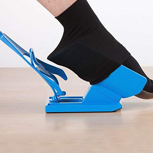 YORKING Sockenanzieher Strumpfanziehilfe Strumpfanzieher Frottee Anziehhilfe Socken für Senioren & Behinderte