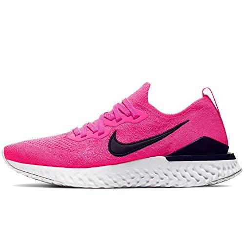 Nike Epic React Flyknit 2 Women's Running Shoe Pink Blast/Black-White Size 10