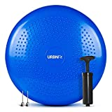 Balance Disc-Stability Wobble Cushion-Lumbar Support For Desk and Office Chair, Lower Back Pain Relief and Support-Kid's Wiggle Seat For Classrooms-Home Gym Workout Equipment - Pump Included (Blue)