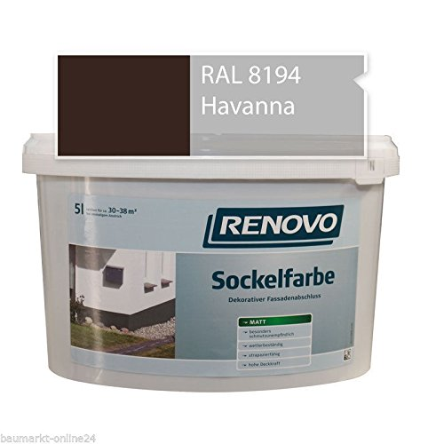 Sockelfarbe 8194 Havanna 5 L Fassadenfarbe Renovo