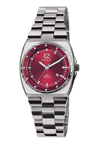Orologio BREIL donna MANTA SPORT quadrante rosso e bracciale in acciaio, movimento SOLO TEMPO - 3H QUARZO