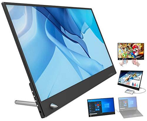 auvisio Bildschirm: Ultradünner Full-HD-Monitor EZM-100, 35,8 cm (14,1