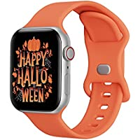 Soft Silicone Sport Band for 38/40mm or 42/44mm Apple Watch (Orange)