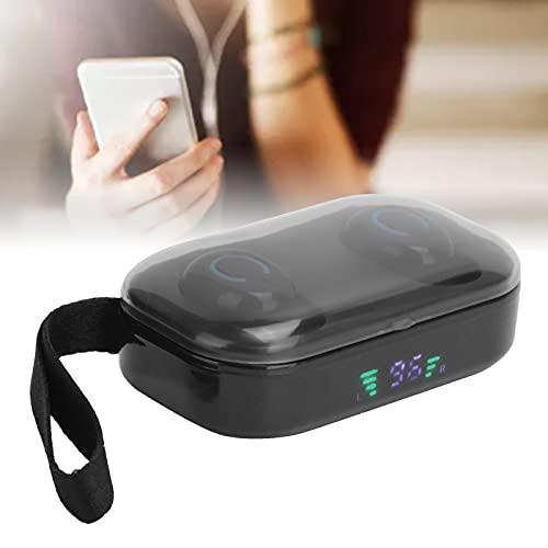 ROMACK Auriculares estéreo inalámbricos TWS, con Efecto de luz LED P18S Auricular Bluetooth con Pantalla Digital Luz LED para Auriculares Deportivos