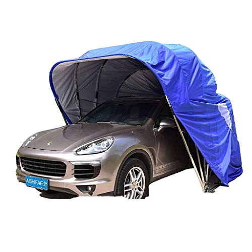 YDS SHOP Mobile Garage Autoabdeckung, Allwetterfest Medium Carpor Tragbar Faltbar Outdoor Heavy Duty Stahlrahmen Carport Langlebiger Unterstand (250X570cm),D