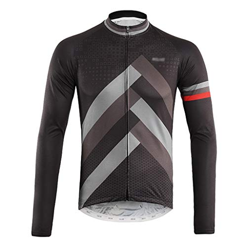 Jersey de ciclismo Manga larga ciclismo Jersey chaqueta de los hombres respirables de secado rápido de deportes al aire libre llevar una vestimenta adecuada for la primavera o el otoño Maillot ciclism