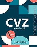 "CVZ Notebook, Examination Preparation Notebook, Study writing notebook, Office writing notebook, 140 pages, 8.5"" x 11"", Glossy cover"