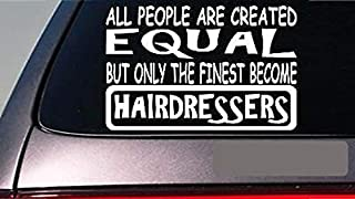 "Hairdressers All People Equal 6"" Sticker *E587* Comb Brush Hairstylist Dryer"