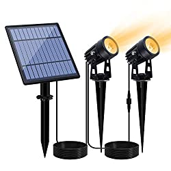 6 Pack 2-in-1 Waterproof Solar Powered Lights Landscape Lighting Adjustable Wall Light Kaizein Solar Spotlights Outdoor White Solar Lights,Auto On//Off for Yard Garden Driveway Pathway Lawn Pool