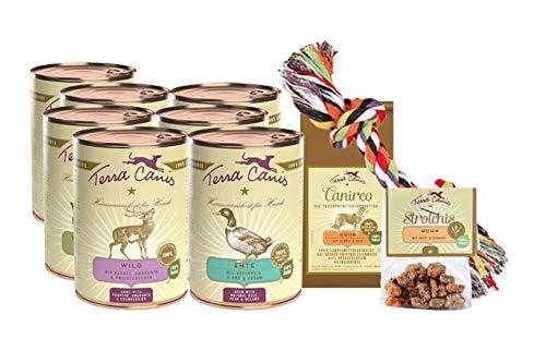 Terra Canis Classic Nassfutter Kennenlernpaket I Reichhaltiges & gesundes Premium Hundefutter in echter Lebensmittelqualität I Allergenarm, getreidefrei & glutenfrei