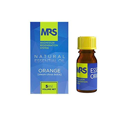 Huile Essentielle Orange, Facilite le Sommeil, 100% Naturelle et Biologique, pour Bain, Massage et Aromathérapie, Oleum Citrus Dulcis, 5ml, par MRS