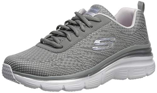 Skechers Women's Fashion Fit-Bold Boundaries Trainers, Grey (Grey/Lavender Gylv), 3 UK (36 EU)