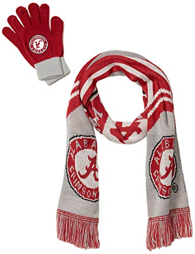 FOCO NCAA Alabama Crimson Tide Knit Scarf and Glove Setknit Scarf and Glove Set