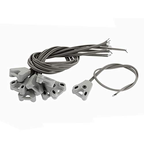 sourcing map Cable blanco de 8 piezas de 250V 1A Base de...