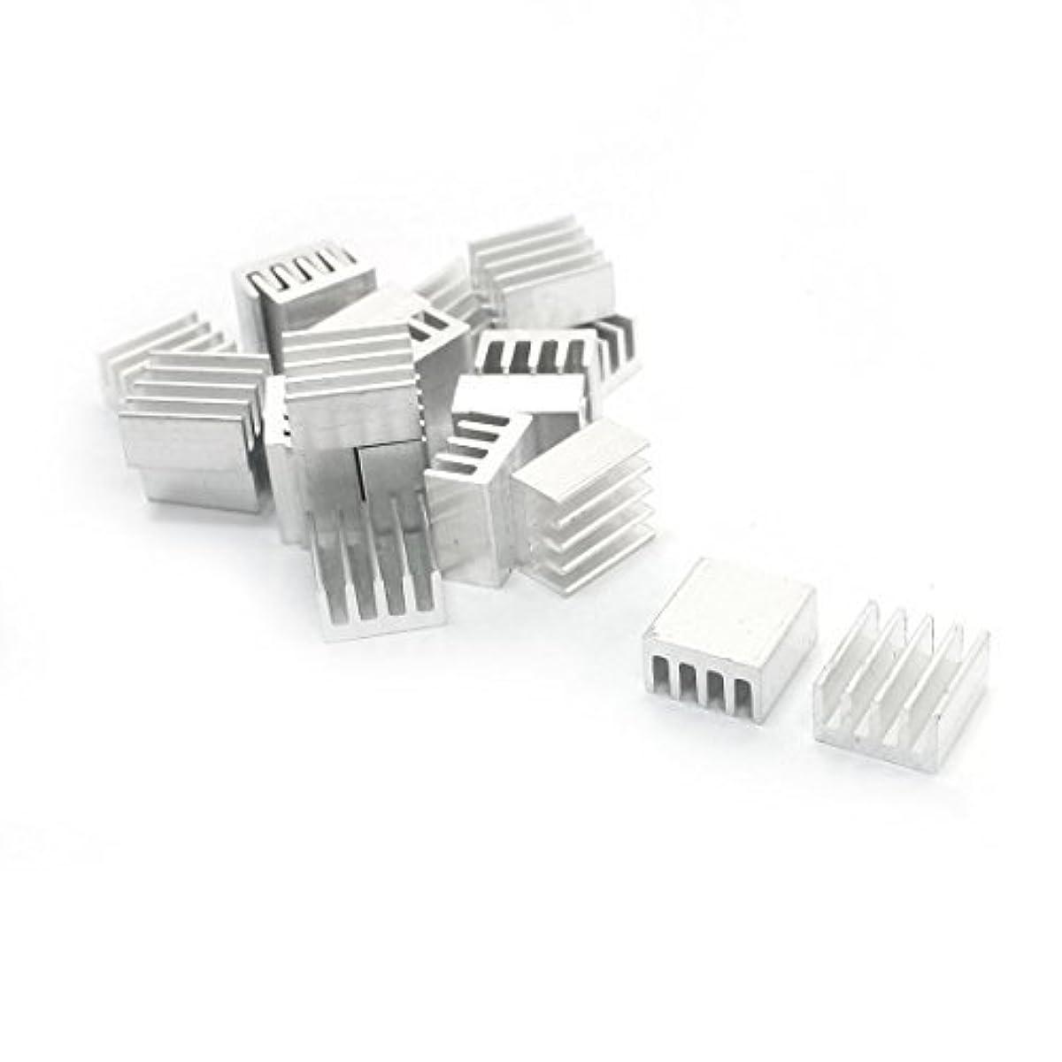 DealMux 20 Pcs Aluminium Heat Diffuse Heatsink Cooling Fin 9mm x 9mm x 5mm