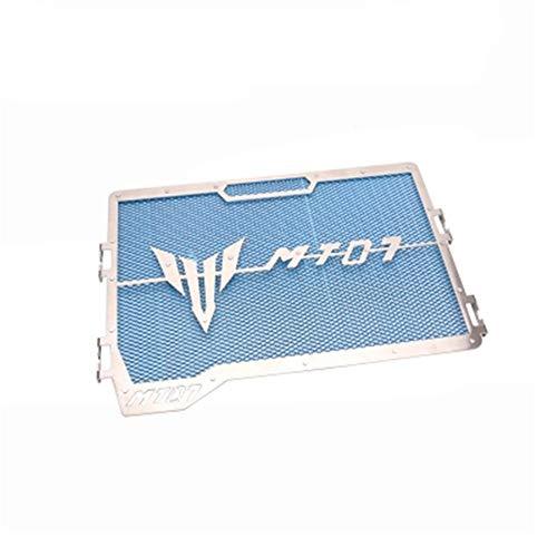CHUDAN Yamaha MT07 MT-07 Edelstahl-Wassertanknetz Motorrad Kühlerschutz Schutzgitter Radiator Wasserkühlung,Blue