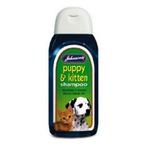 2 X Johnsons Puppy & Kitten Shampoo 125ml 200g