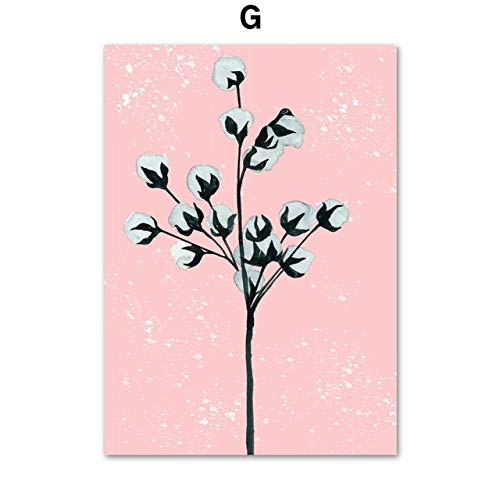 N/ A Tropische Pflanze Wandkunst Bild Kaktus Monstera Aloe Blatt rahmenloses Poster und Drucke nordische Leinwand Wohnzimmer Wohnzimmer Malerei B7 30x40cm No Frame
