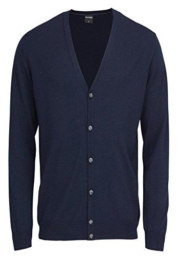 OLYMP Strick Cardigan geknöpfter V-Ausschnitt Merinowolle Nachtblau Größe XL