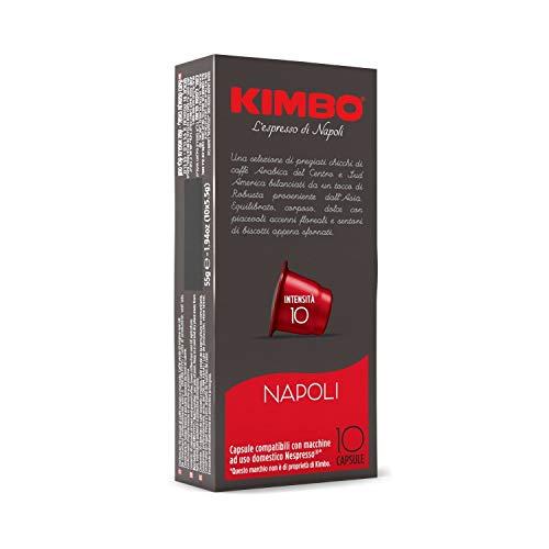 Kimbo Napoli Cápsulas compatibles Nespresso -10 Cajas de 10 cápsulas (Total 100 cápsulas)