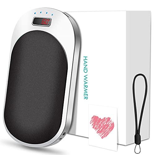 Handwärmer, USB Taschenwärmer Wiederaufladbar,9000 mAh Power Bank, Handwärmer Elektrisch mit 3 Einstellbaren TemperaturenWintergeschenke für Frauen, Mann, Familien, Freunde an Weihnachten