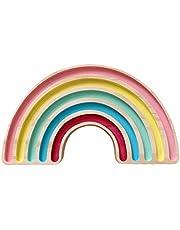 Xurgm Decoración de madera de pino arcoíris para habitación infantil, estilo nórdico