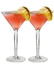 I-WILL Copas de Cocktail de Plástico Reutilizable Transparente 180ml Coppa Martini Margarita Cócteles Jugo Bebida Copas de Cóctel para Bar, Fiesta en Casa, Lavavajillas, Set 2