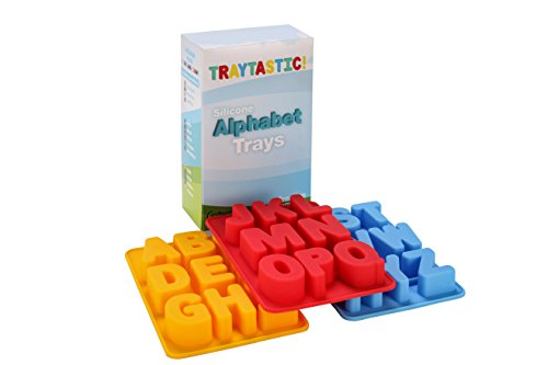 Silicone Alphabet Trays Mold by Traytastic! - Large 1.5' Tall Letters