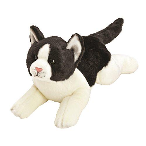 Yomiko 12073 - Suki Gifts Plüschtier Katze, 36 cm, weiß/schwarz