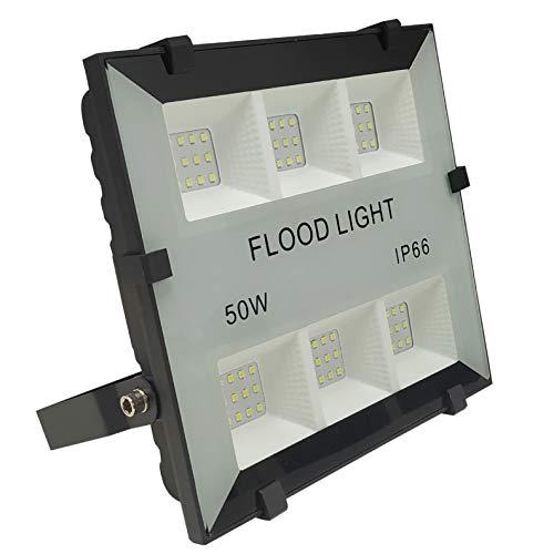 Foco Proyector Led Slim 50w para Exterior. Color Blanco Frío (6500K). 5000 Lumenes. IP65. A++