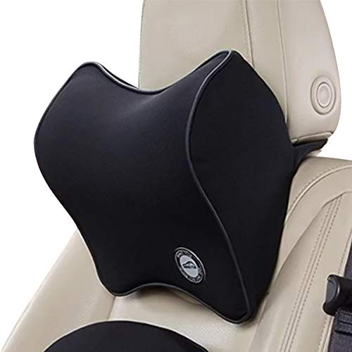 Ergocar 50D de espuma de memoria de rebote lento cojín de asiento para coche para alivio de dolor de espalda-Cojín de respaldo lumbar para coche & juego de almohada de cuello reposacabezas para coche