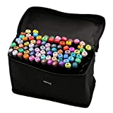 80 Colour Graffiti Pen Set Permanent Marker Set, Twin-Tip Highlighter Graffiti Stife for Sketching and Painting