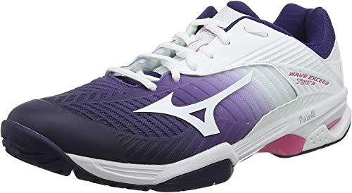 Mizuno Damskie buty do tenisa Wave Exceed Tour 3 Ac, fioletowy - Fioletowy Astral Aura biały Aurorapink 14-42 EU