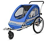 Pacific Cycle Schwinn Trailblazer Double Bicycle Trailer (Renewed)
