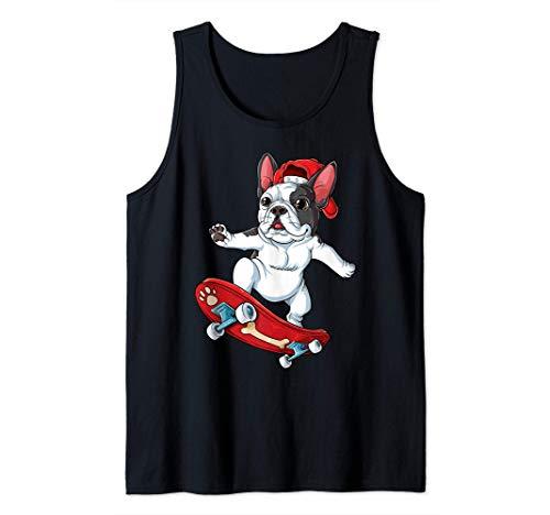 French Bulldog Skateboard Funny Dog Lover Skateboarding Gift Tank Top