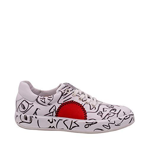 Felmini - Damen Schuhe - Verlieben Trump B766 - Sneakers - Echtes Leder - Mehrfarbig - 38 EU Size