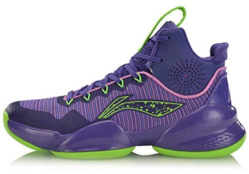 LI-NING CJ McCollum Power V Men Professional Basketball Shoes Lining Cushioning Athletic Sport Shoes Sneakers Purple ABAP025 US 8