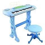 deAO Teclado Electronico Infantil - Piano Karaoke 37 Teclas con Microfono, Taburete, Variedad...