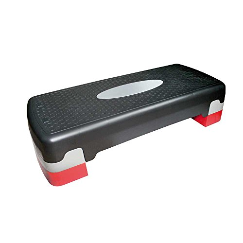 1 x Step para aerobic de Behrend Power Up, tabla acolchada, aerobic, altura regulable, Step, 68 x 30 x 15 cm